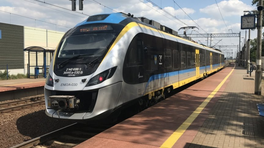 Pociąg na peronie