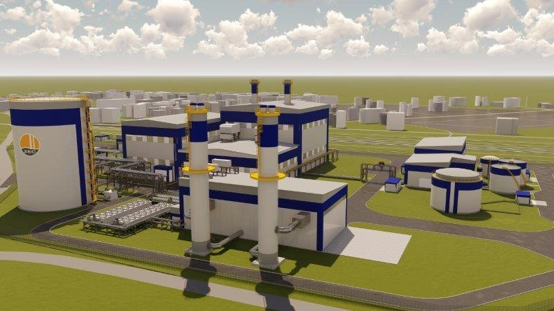 Model 3D nowej elektrociepłowni