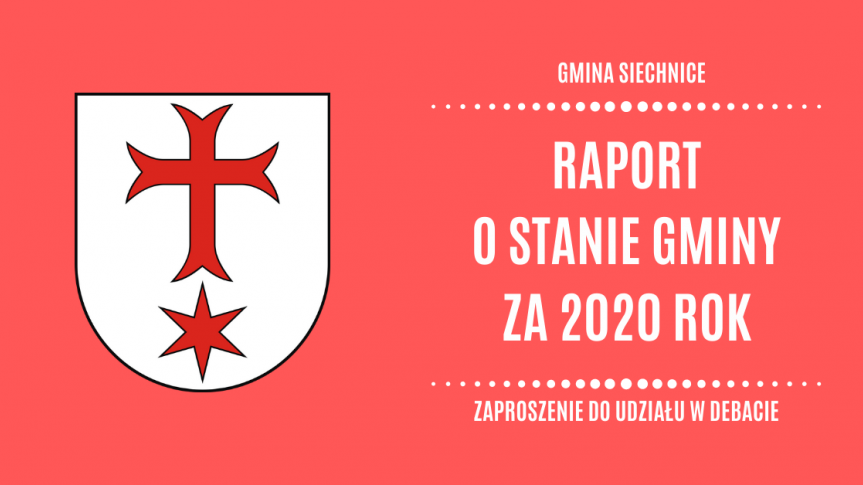 Raport o Stanie Gminy Siechnice za 2020 rok - zaproszenie do udziału w debacie